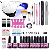 Saint-Acior Gel Nail Polish Starter Kit Choose Any 10 Colors Nail Gel UV