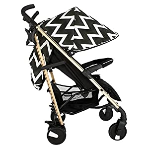 My Babiie MB51 Gold Chevron Stroller   14