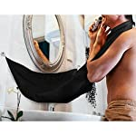 BeToper Man Bathroom Apron Black Beard Care Trimmer Hair Shave Apron for Man Waterproof Floral Cloth Household Cleaning Protections (Black)