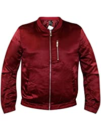 New Mens Un Padded Finish MA1 Bomber Casual Light Weight Coat Jacket