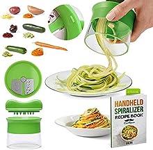 Premium espiralizador de ChefSpies - El espiralizador es perfecto para todas las variedades de vegetales redondos y largos - incluyendo calabacines, zanahorias, patatas, batatas y muchos más - ¡Convierte tus verduras aburridas en las estrellas de tu