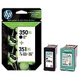 Original Tinte passend für HP PhotoSmart C 4494 HP 350XL , 350XLBK , 350XLBLACK , NO350XL , NO350XLBK , NO350XLBLACK , Nr 350 CB336EE , CB336EEABB , CB336EEABD - Premium Drucker-Patrone - Schwarz - 1000 Seiten - 25 ml