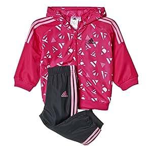 adidas AJ7365 Survêtement Enfant Rose/Blanc/Gris FR : 9 mois (Taille Fabricant : 74)