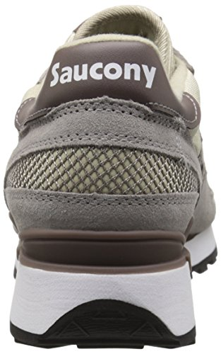 Sneaker Saucony Shadow in suede marrone e arancione Grey/Sand