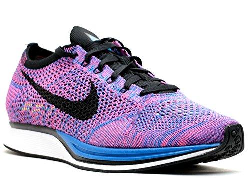 Nike - Flyknit Racer - Couleur: Bleu-Rose-Violet - Pointure: 47.0
