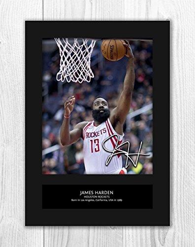 pretty nice 7dc1b c0e03 Engravia Digital James Harden - Houston Rockets NBA 1 MT - riproduzione  foto A4 Stampa autografata