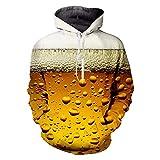 Punk Hoodies Harajuku 3D Print Frische Kühle Bier Sweatshirt Frauen/Herren Outfit Herbst Winter Lose Kapuzen Hoody Jumper Fresh Beer L