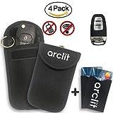 2 X Fundas de Bloqueadores de Señal de Llaves de Auto + 2 X Bloqueadores de Señal   Bloqueo de Autos para Prevención de Robos   Bloqueador RFID / NFC / WIFI / GSM / LTE   Bolsa Funda Bloqueadora de Señal