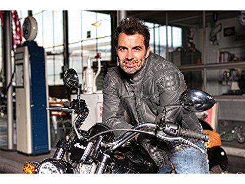 Modeka MEMBER Lederjacke Herren Motorrad Urban – schwarz Größe XL - 3