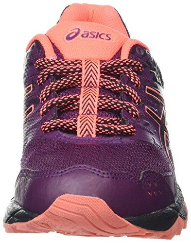 Asics Gel-Sonoma 3 G-Tx, Chaussures de Course pour Entraînement sur Route Femme Violet (Dark Purple/Black/Flash Coral)