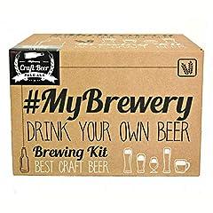Idea Regalo - #Cervezanía Kit per fermentazione Birra Artigianale | Ricetta Pale Ale | 5 Litri | Malto macinato e Luppolo Fresco | La Tua Birra a casa