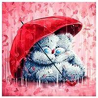 Orsit Diamond Painting Art Set DIY Cross Stitch Digital Set DIY Art Craft Wall Decoration,Bear(35X35cm/14X14inch)