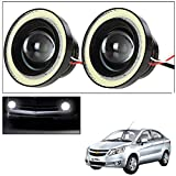 #9: Vheelocityin 2Pc 3.5Inch Car Fog Lamp Angel Eye DRL Led Light