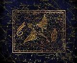 HQHff Costellazione,Zodiaco,Cielo Stellato,Mappa Celeste,Puzzle di Adulti 1500 Pezzi 87x57cm,Regalo di Puzzle in Legno 3D Decorazione della casa Fai da Te