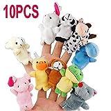 10pcs Peluches marionnettes jeux de doigts aléatoire marionnettes Peluches accessoires, Histoire de la famille Enfants Jeux bébé