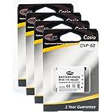 Inov8 Remplacement Appareil Photo Numérique Batterie au lithium RCB Casio NP-60, NP60, NP 60, 550mAh 3.7V (Pack de 4)