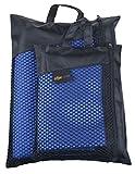 Sunland Extra Leicht und Kompakt Schnelltrocknendes Saugfähiges Microfaser Reisehandtuch Sporthandtuch Fitnesshandtuch Badetuch Saunatuch Handtüch (Dunkelblau, 100cmx180cm) -