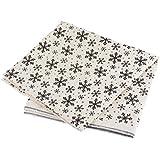 Souarts Flocon de Neige Noël Textile Tissu Coton Lin pr Diy Patchwork Couture 100x50cm
