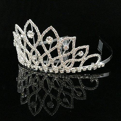 Anillo De La Corona De Novia De La Boda Del Baile De La Llama 8 Decoración Cabeza Joyas De Cabeza La Tiara Cristalina