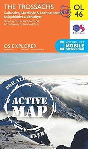 OS Explorer ACTIVE OL46 The Trossachs (OS Explorer Map Active)