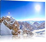 Zugspitze im Sonnenlicht, Format: 80x60 auf Leinwand, XXL