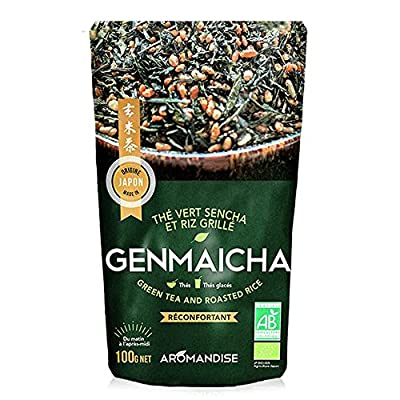 Thé vert sencha et riz grillé - Genmaicha - 100g