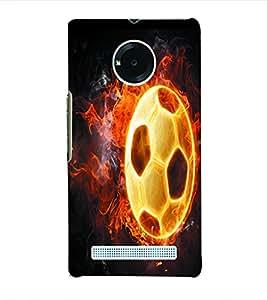 Fuson 3D Printed Fireball Designer Back Case Cover for Yu Yuphoria - D1049