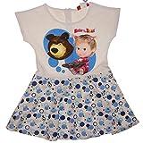 Mascha und der Bär Sommerkleid gepunktet kurzarm Größe 116, Farbe Blau