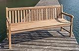 Linder Stabile Gartenbank Picadelly 180 cm in Premium Teak mit Armlehne