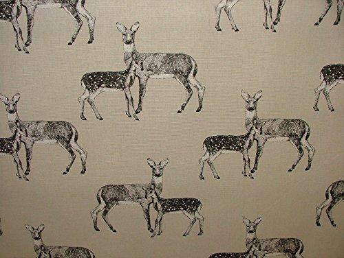 halben Meter Prestigious Textiles Deer Canvas Baumwolle Vorhang Raffrollo Möbelstoff, (Stoff-ente Canvas)