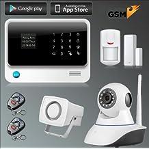 Kit alarma Kerui GS90B inalámbrica GSM Y WiFi para hogar casa o negocio App IOS Android sin cuotas cámara IP incluida