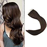 Full Shine 22 Zoll 40 Stuck Per Set 100 Gram Weight 100% Remy Brazilian Human Haarverlängerung Color #4 Seamless Skin Weft Tape in Human Hair Extensions