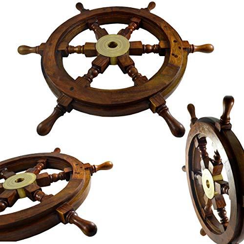 Schiff Rad-aus Palisander (Indian)/Sheesham-Boot-Rad Schiff-Rad Shipwheel Yacht Rad, 18 x 18in -
