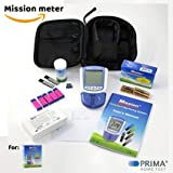 MISSION 4in1 Misuratore COLESTEROLO (HDL, LDL, ColesteroloTotale, Trigliceridi) + 5 Mission Cholesterol Test Devices + 100 Mission Capillary Transfer Tubes + 100 Sterile Lancets