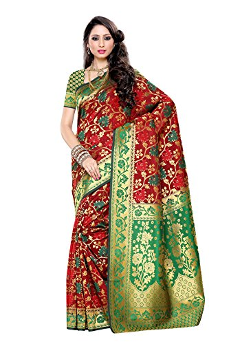 Mimosa Women's Traditional Art Silk Saree Kanjivaram Style, color :Maroon(3257-R10-MRN-GRN)  available at amazon for Rs.2099