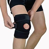Soporte deportivo para rodilla, EveShine soporte de compresión de rodillas Correa Antideslizante de Protección Para el Apoyo y Compresión Necesaria - La pierna derecha
