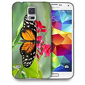 Snoogg Dragon Butterfly Printed Protective Phone Back Case Cover For Samsung S5 / S IIIII