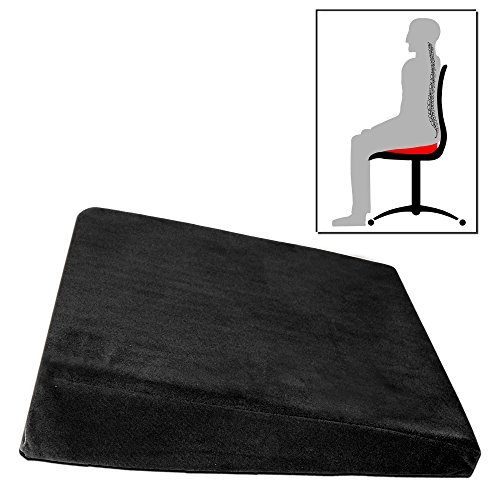 FTS EXCLUSIV Keilkissen - Ergonomisches Sitzkissen Sitzkeilkissen schwarz weiß grau hellgrün lila braun (schwarz)