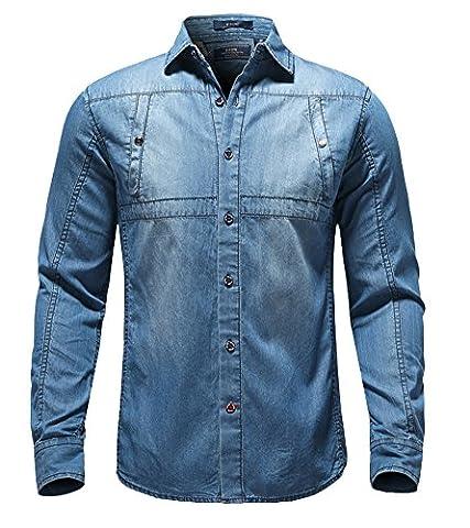 Icegrey - Chemise casual - Homme Bleu bleu UK XL = étiquette XXXL