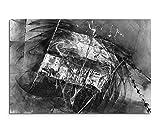 Sinus Art Abstrakt 1332-120x80cm Schwarz-Weiss Bilder - Wandbild Kunstdruck in XXL Format - Fertig Aufgespannt – Top - Leinwand - Wand Bild - Kunst Bild - Wandbild Abstrakt XXL