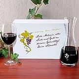 Leonardo Wein Geschenkset mit gratis Gravur von Weinkaraffe und Weinglas im bedruckten Geschenkkarton - 2