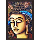 Mad Masters Lord Budha 1 Piece Wooden Framed Painting |Wall Art | Home Décor | Painting Art | Unique Design | Attractive Frames