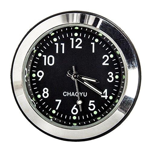 Reloj universal impermeable para el coche de la marca Discoball®, el manillar de la moto o la bicicleta, de cuarzo para Harley, Kawasaki, Yamaha y otros vehículos, de 2x3,6cm