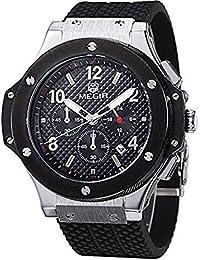 Megir SNMG3002GBK-1 - Reloj infantil de cuarzo, cronógrafo, correa de silicona, color negro
