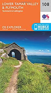 OS Explorer Map (108) Lower Tamar Valley and Plymouth