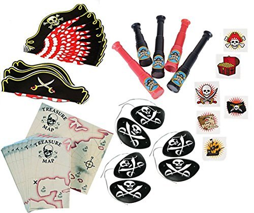96 Piece Pirate Party Favor Kit