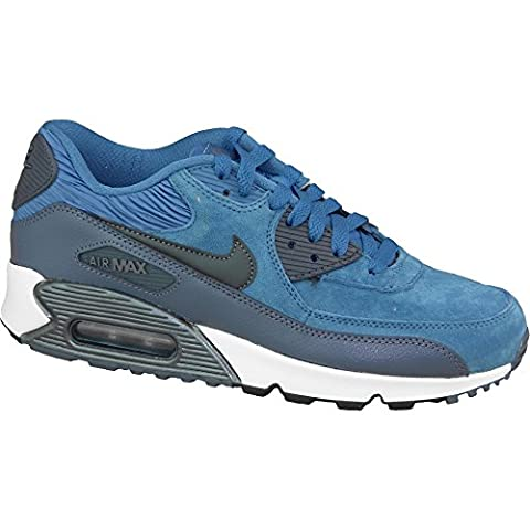 Nike Air Max 90 Leather Women Schuhe brigade blue-metallic armory navy-squadron blue - 38,5
