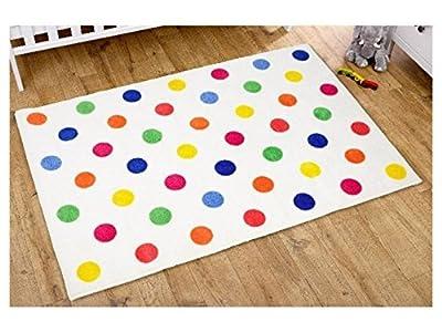Kit for Kids Unisex Rug (Multi Colour, Polka Dot) - low-cost UK light store.