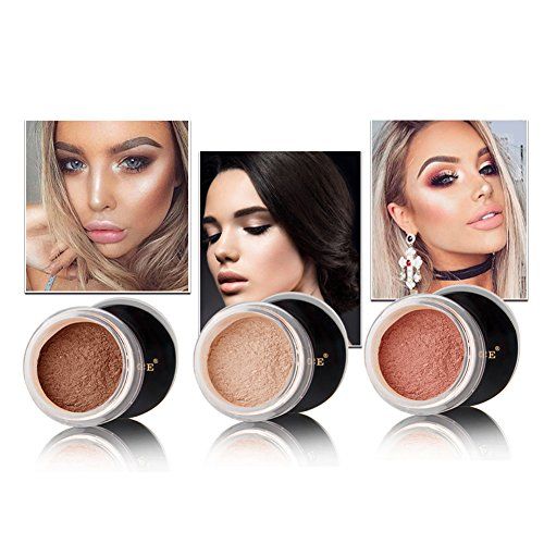 uniqueaur Better for Yourself Exquisito cosm  ticos para mujer maquillaje base acabado transl  cido suave cara suelto Polvo Puff  1