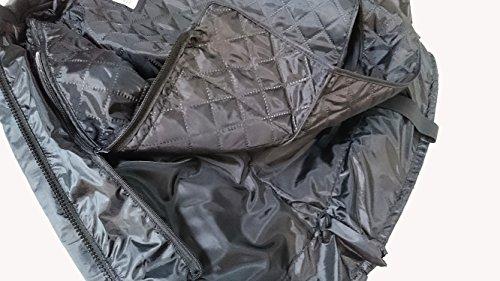 Schwarze Motorradjacke mit Protektoren, Belüftungssystem, Klimamembrane und herausnehmbarem Thermofutter - 5